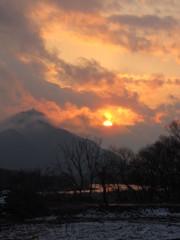 夕陽と金華山1