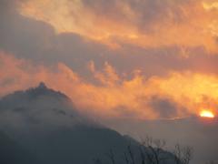 夕陽と金華山2