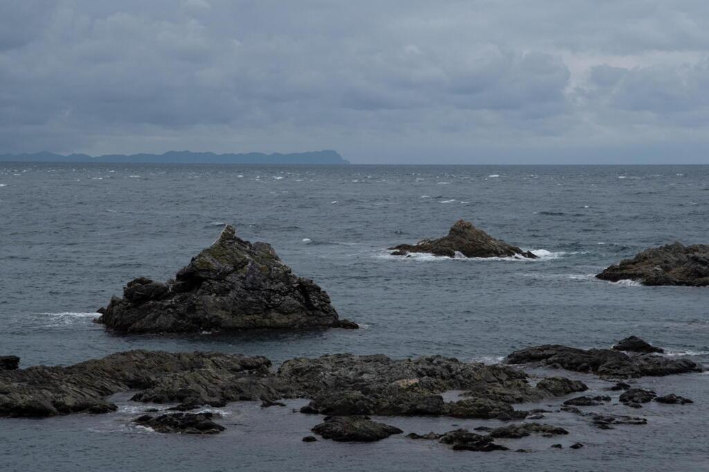 北海道の南端 白神岬 竜飛岬を見やる