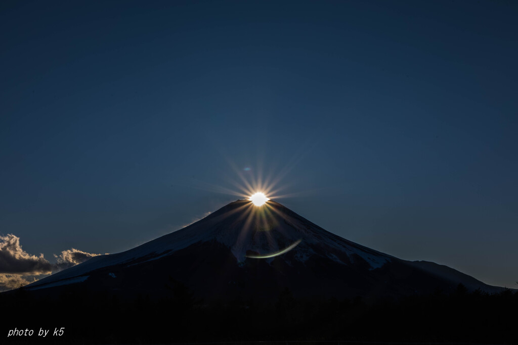 沈むダイヤモンド富士