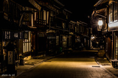 未明の奈良井宿1