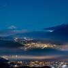 高ボッチview2019.12.14 月夜の富士