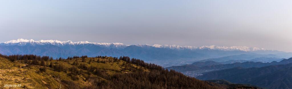 鉢伏山からの北アルプス