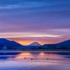 諏訪湖の朝焼け3