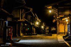 未明の奈良井宿2