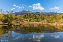 まいめの池と乗鞍岳