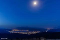 月夜の高ボッチ高原