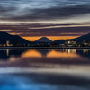 諏訪湖の朝焼け1