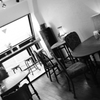 Jazz の流れるカフェ。