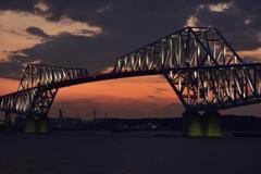 恐竜橋の夕景