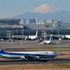 新春 羽田空港から富士山を望む!!