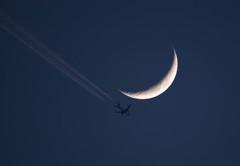 Crescent & Jet Contrail