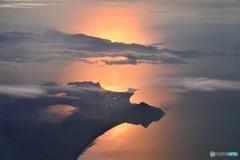 朝の鹿児島湾