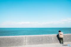 青い海とかいと