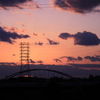 Sunset steel tower