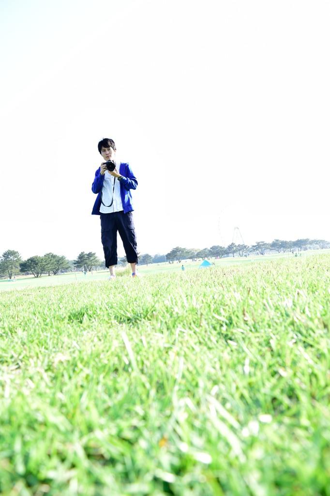 草原の中で