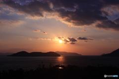 与島 夕景
