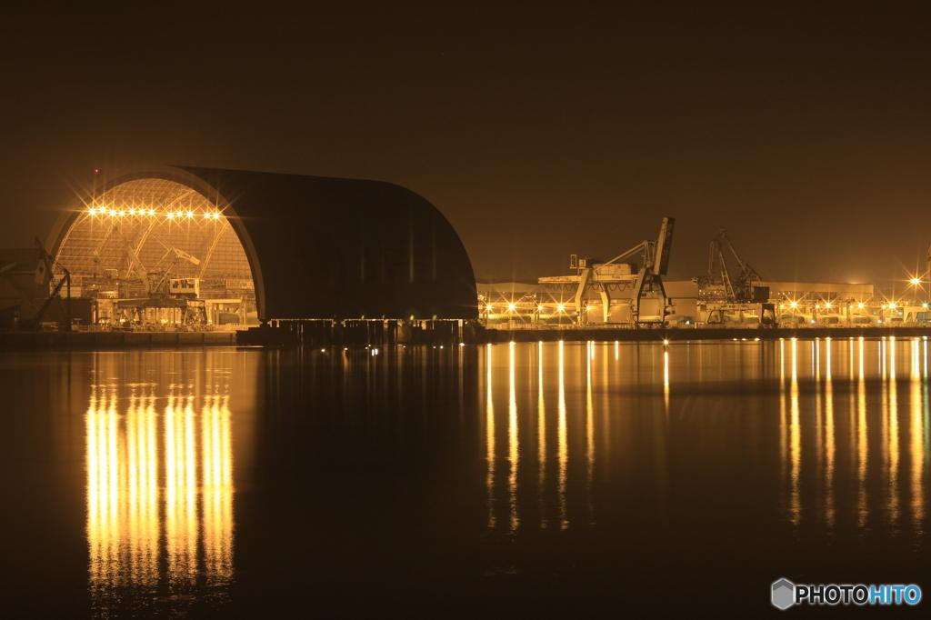 福山港 夜景