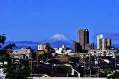 しずくBlue 真白き雪を纏いて輝く富士☆。.:*・゜