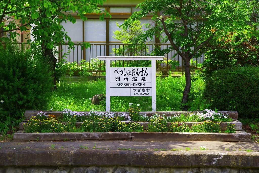 花のある駅~別所温泉~
