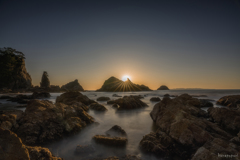海岸の夕日