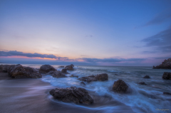 赤羽根海岸の夜明け