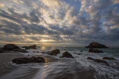 海岸の日の出
