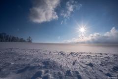 美瑛の青い空