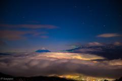 パステルカラーな雲海