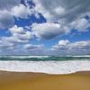 鳴く砂の浜辺