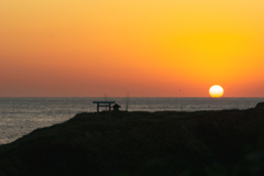 経島の夕景