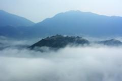 雲海の竹田城跡