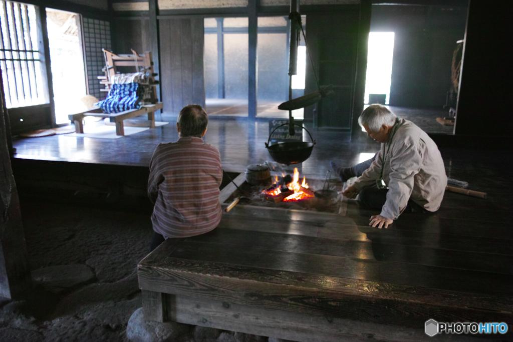 民家園-囲炉裏火