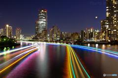 中央大橋からの軌跡