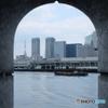 築地市場8 勝鬨橋の隙間から覗く