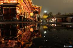 雨上がり夜の浅草寺2