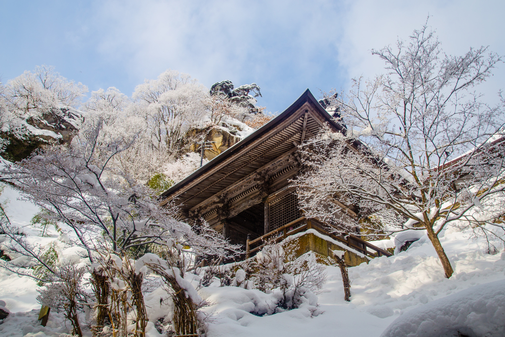 雪景 仁王門