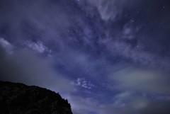雲の中に輝く星