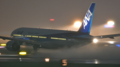 Rainy Night Flight