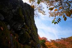 古城の秋模様