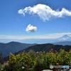 日本一の稜線から眺める富士