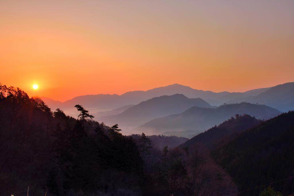 竹田城跡 日の出