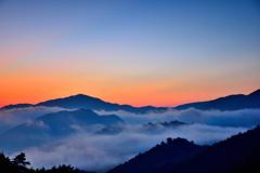 竹田城跡 雲海と朝焼け