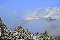 竹田城跡 雪化粧