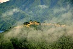 竹田城跡 霧が晴れると・・・