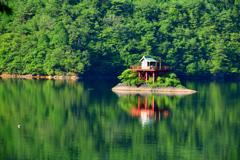 銀山湖 淤加美神社