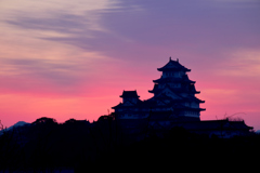 姫路城 日の出前