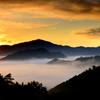 竹田城跡 日の出と朝焼け