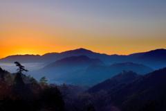 竹田城跡 朝焼け