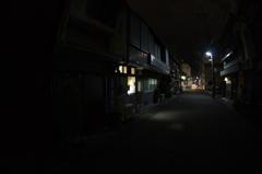市役所付近の路地